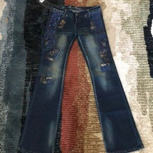 NWT Montana West Sequin Jeans size 3